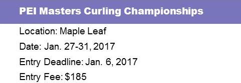 PEI Masters Curling Championships @ Maple Leaf Curling Club | O'Leary | Prince Edward Island | Canada