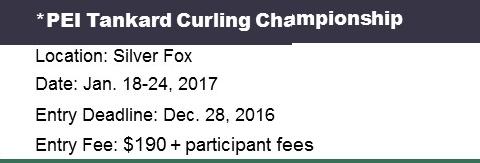 PEI Tankard Men's Curling Ch'ship @ Silver Fox Curling and Yacht Community Complex | Summerside | Prince Edward Island | Canada