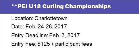 PEI U18 Ch'ships @ Charlottetown Curling Complex | Charlottetown | Prince Edward Island | Canada