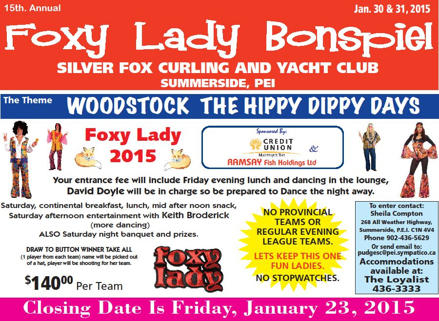 Foxy Lady women's funspiel @ Silver Fox Curling and Yacht Club | Summerside | Prince Edward Island | Canada