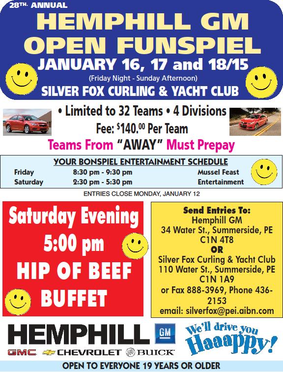 28th annual Hemphill GM Open Bonspiel @ Silver Fox Curling and Yacht Club