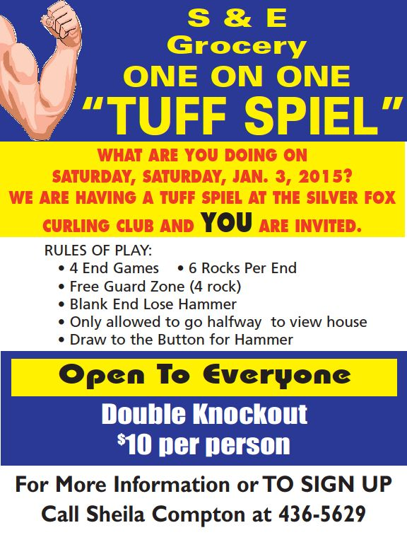 One on One Tuff Spiel @ Silver Fox Curling and Yacht Club