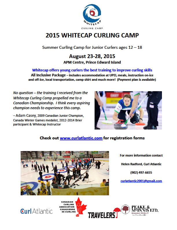 Whitecap Junior Curling Camp (full) @ APM Centre, Cornwall , PE