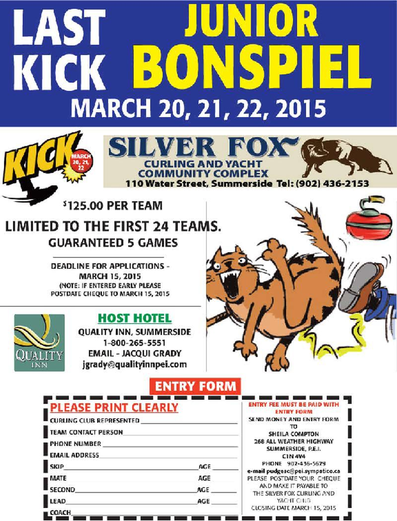 Last Kick Junior Bonspiel @ Silver Fox Curling and Yacht Club | Summerside | Prince Edward Island | Canada