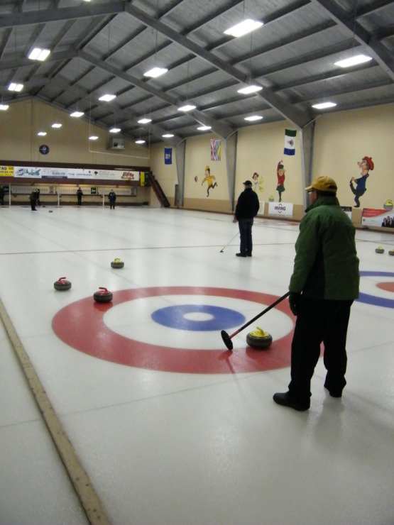 Cornwall duos sweep up 55+ Games Stick Curling medals