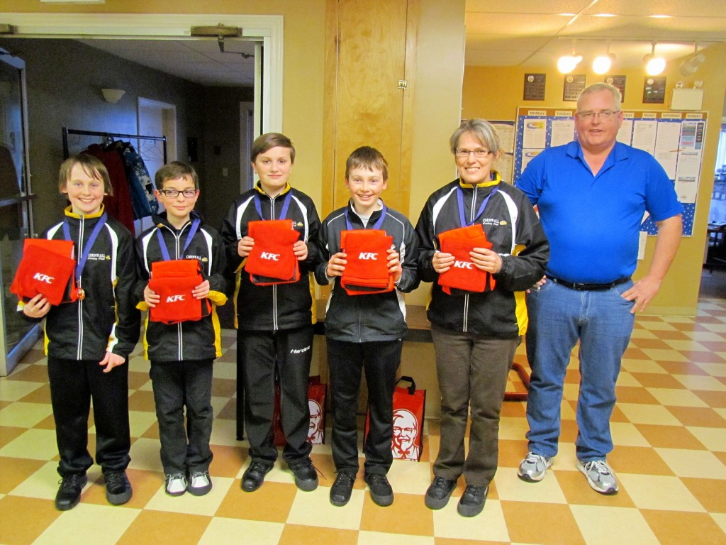 Cornwall's Mitchell Schut rink goes undefeated to win Provincial KFC Under 13 curling title