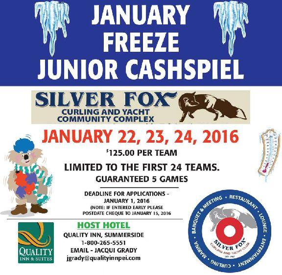 January Freeze Junior Cashspiel @ Silver Fox Curling and Yacht Club