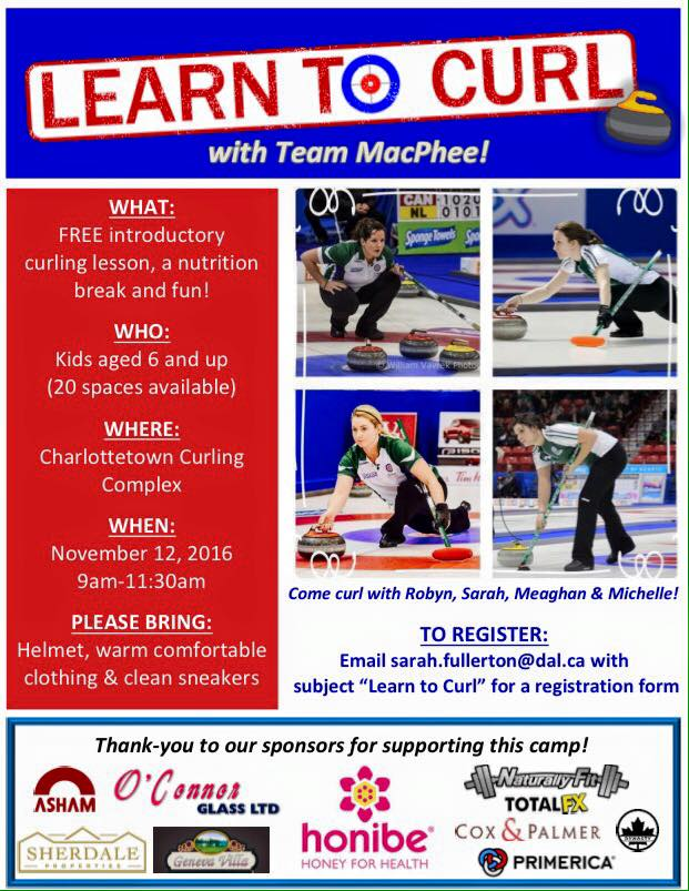 Kids: Learn to Curl with Team MacPhee @ Charlottetown Curling Complex