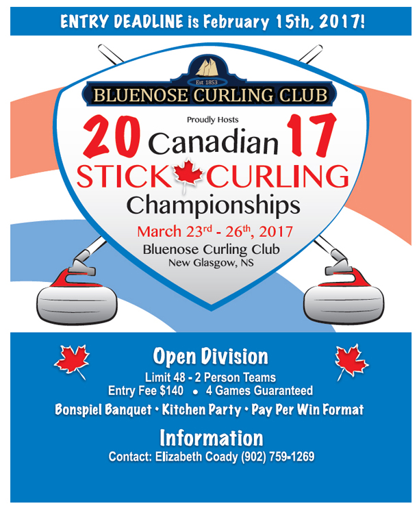 Canadian Stick Curling Ch'ships @ Bluenose Curling Club | New Glasgow | Nova Scotia | Canada