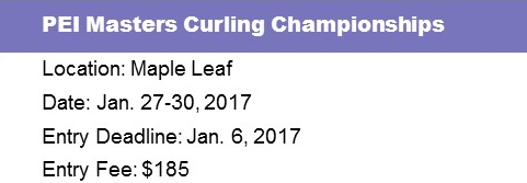 PEI Masters Curling Championships @ Maple Leaf Curling Club | O'Leary | Prince Edward Island | Canada