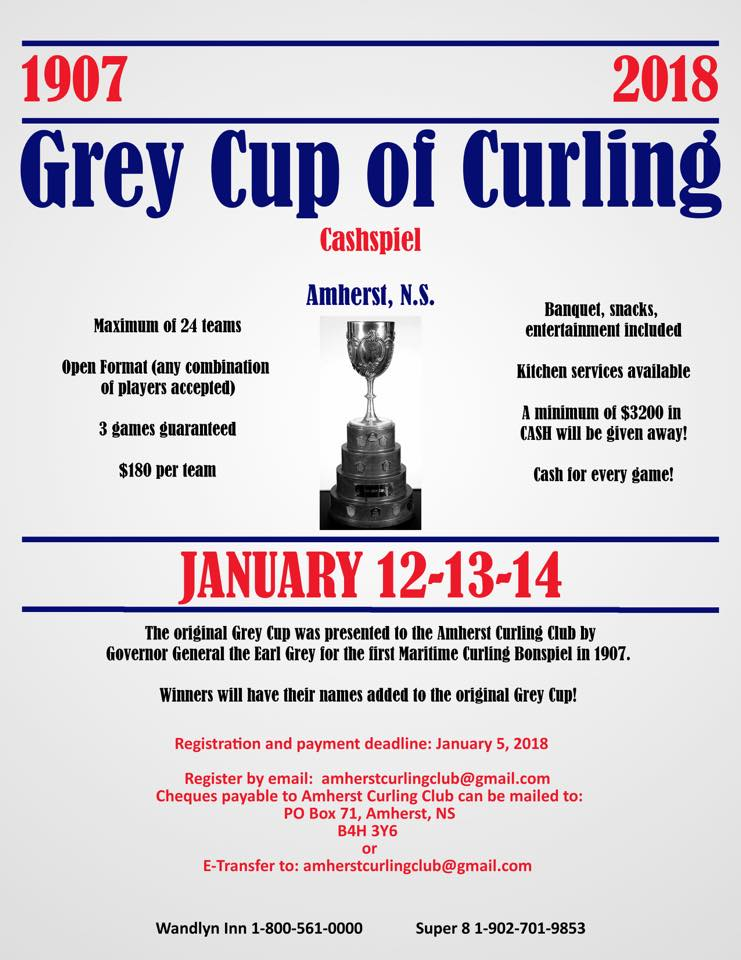Grey Cup of Curling @ Amherst Curling Club | Amherst | Nova Scotia | Canada