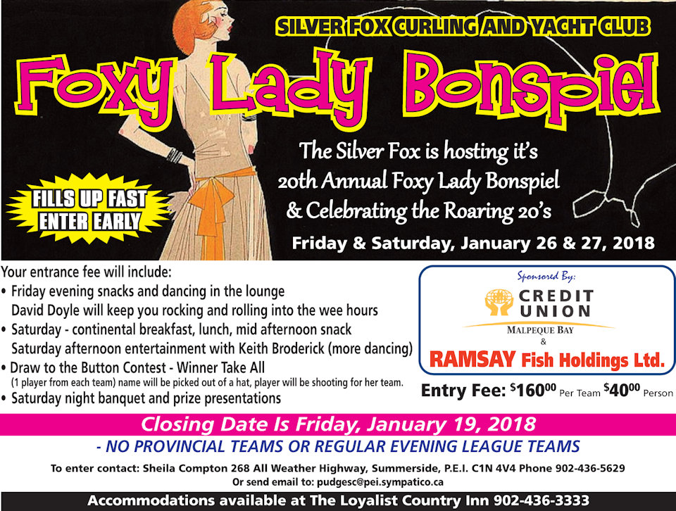 20th annual Foxy Lady Women's Funspiel @ Silver Fox Curling and Yacht Club | Summerside | Prince Edward Island | Canada