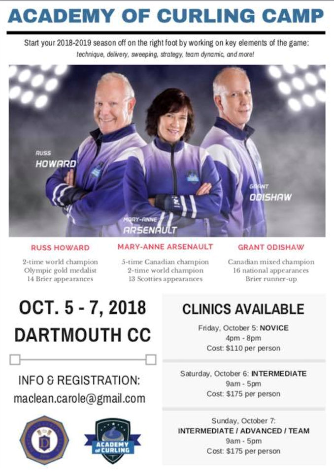 Academy of Curling Camp @ Dartmouth Curling Club | Dartmouth | Nova Scotia | Canada