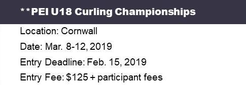 PEI Under 18 (U18) Curling Ch'ships @ Cornwall Curling Club | Saint Catherines | Prince Edward Island | Canada