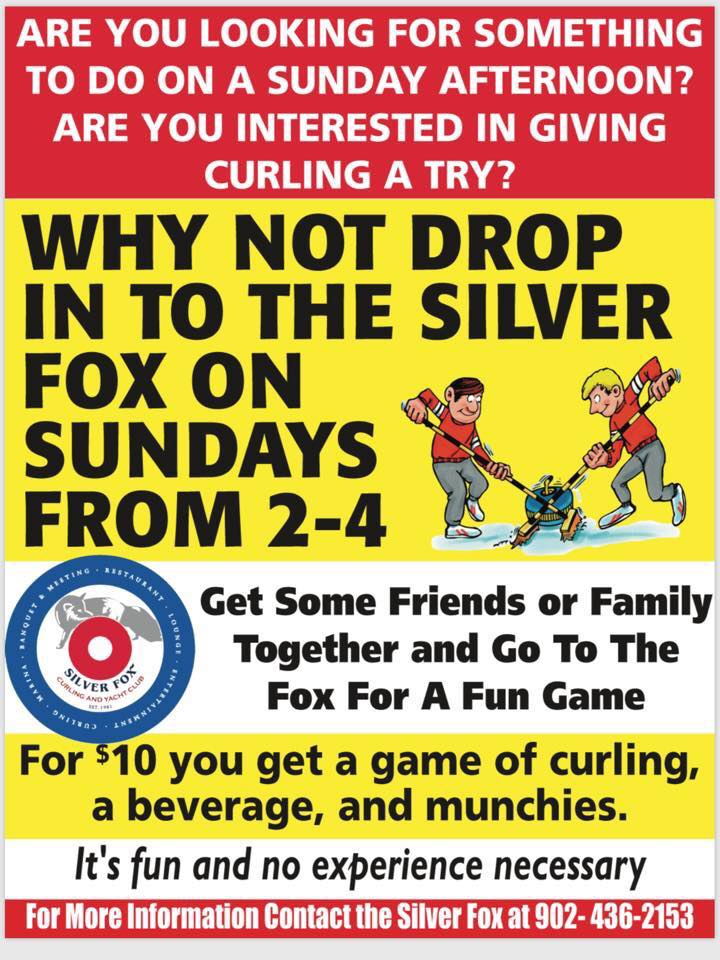 Try Curling Sundays at the Fox @ Silver Fox Curling and Yacht Club | Summerside | Prince Edward Island | Canada