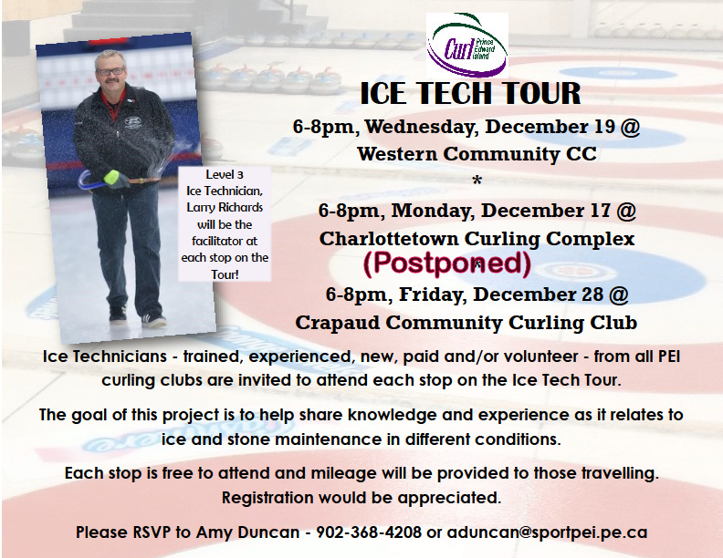 Curl PEI Ice Tech Tour- Stop One (new date) @ Western Community Curling Club | Alberton | Prince Edward Island | Canada