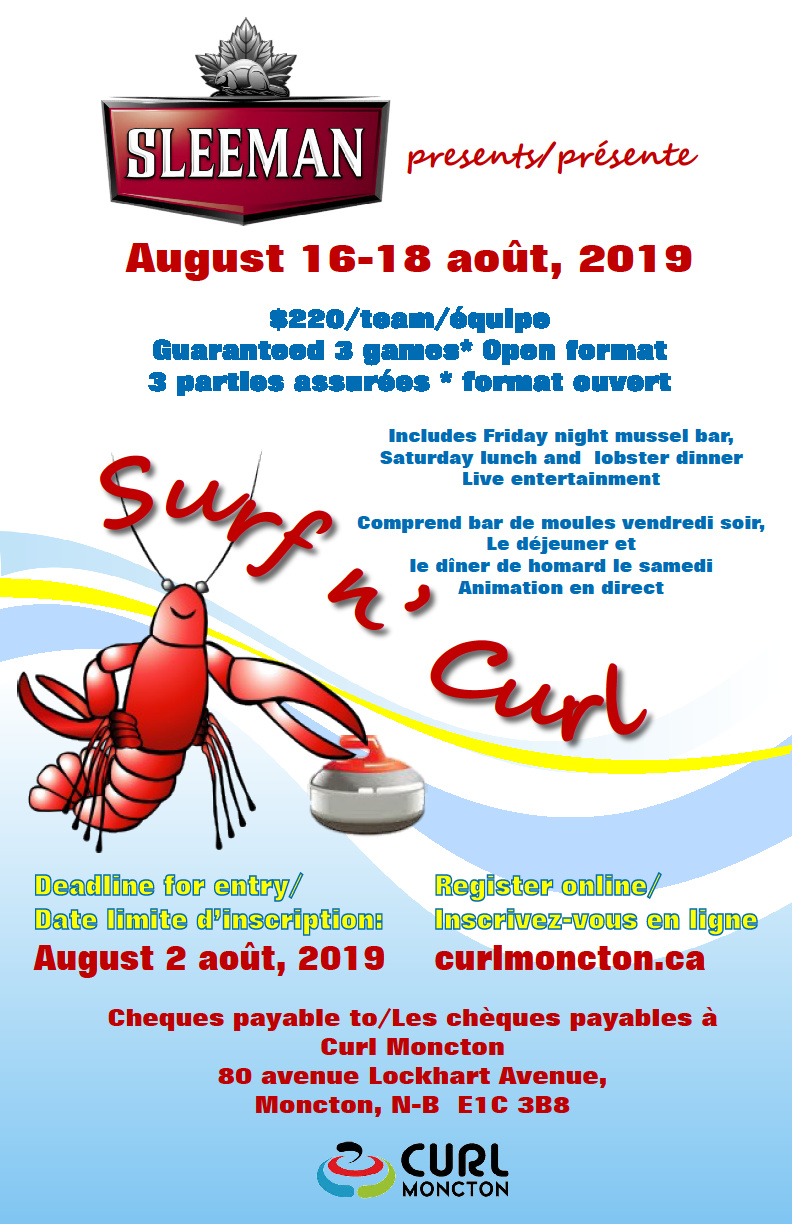 Surf n' Curl in Moncton this August @ Curl Moncton