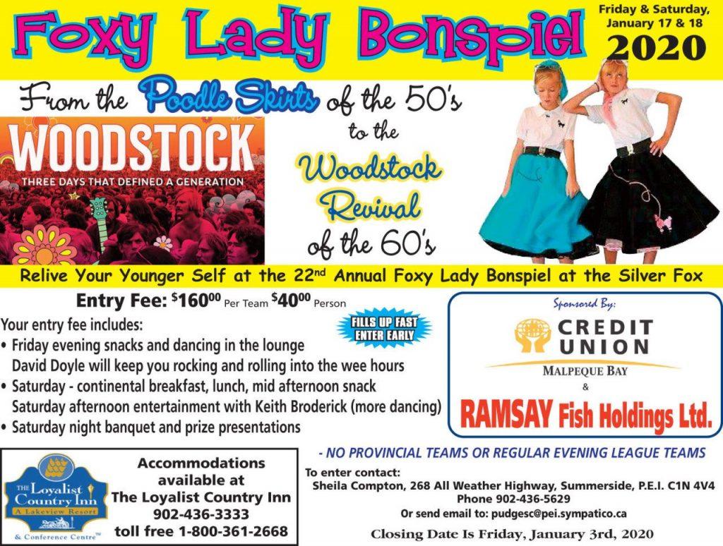 Foxy Lady Women's Fun Bonspiel @ Silver Fox Curling and Yacht Club | Summerside | Prince Edward Island | Canada