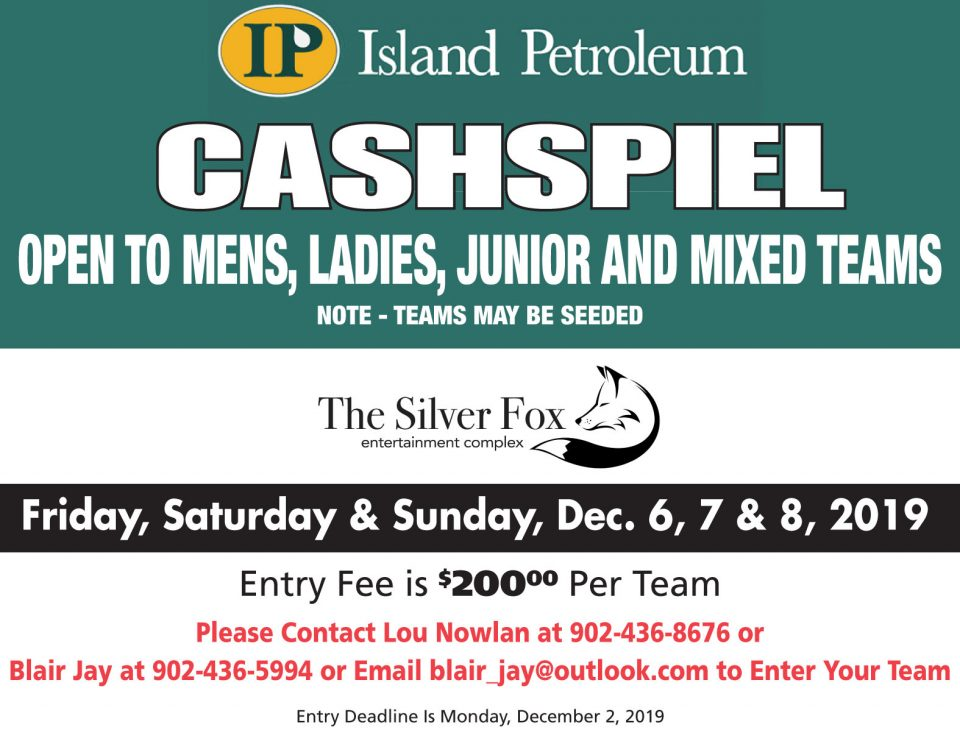 Annual Island Petroleum Cashspiel at the Silver Fox @ Silver Fox Curling and Yacht Entertainment Complex