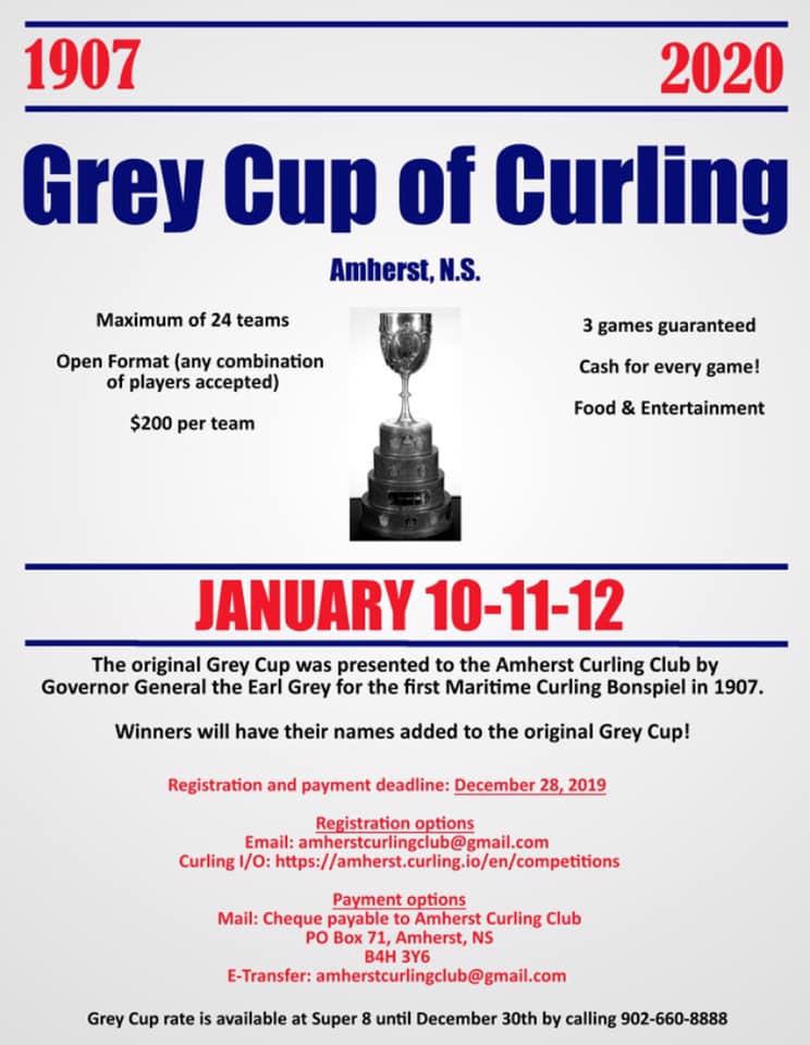 Grey Cup of Curling Bonspiel @ Amherst Curling Club